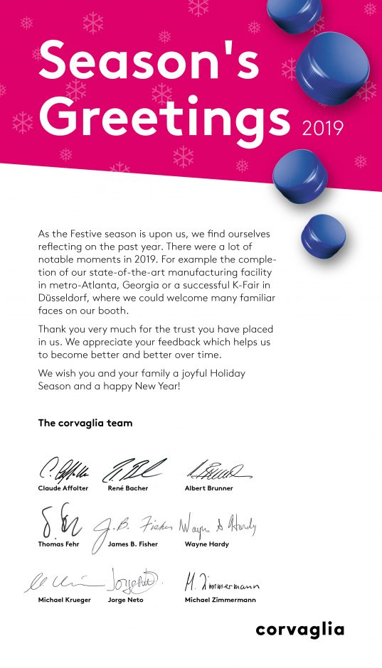Season's Greetings from corvaglia group